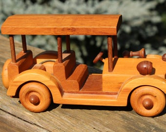 Vintage Wooden Four-Seater Car