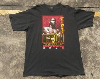 VTG 1995 Mike Tyson VS. McNeelley Promo Shirt Boxing MGM Grand Rare