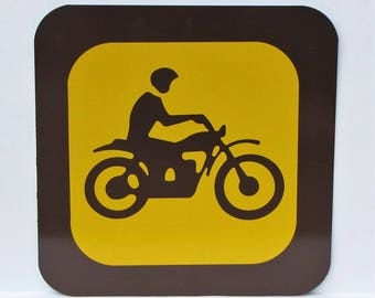 "Nostalgic Provincial Park / State sign - 12"" square - New Old Stock - Never Installed - MOTORCYCLE / TRAIL BIKE - Free Shipping"