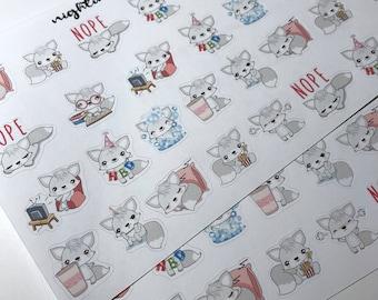 Finna the Fox - Cute Fox Character Planner Stickers