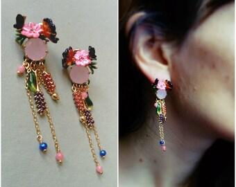 """""""Monet Garden"""" - the Nereides earrings"""