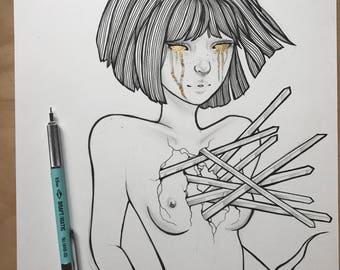 Shatter Original Illustration