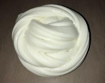 White fluffy slime