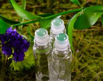 Green Aventurine Gemstone Roller Ball Perfume Bottles