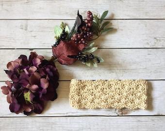 Crochet Ear Warmer - Crochet headband - Ear Warmer - Ear Warmer Headband - Winter Headband - Headband - Womens Headband - Womens Ear Warmer