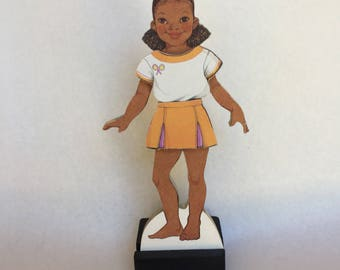 Paper Dolls on Wood