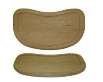 High Chair Tray - Solid Oak - New Ready to Finish
