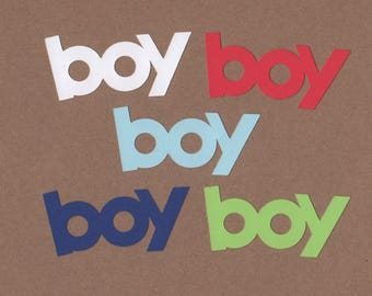 10 Boy  Die Cuts for Paper Crafts Sail Away Colors Set #5554