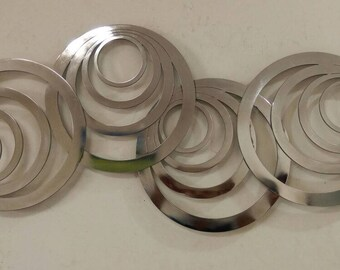 Round metal wall art - Stainless steel - 100% SS - Wall Hanging - Wall Art