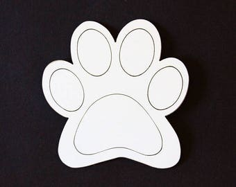 Animal paw coasters (model 29)