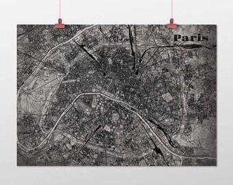 Paris din a4/din A3-print-old-school