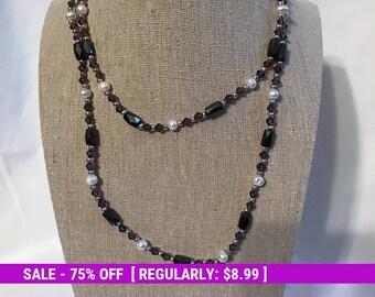Vintage Magnetic Bead Necklace, Retro, Estate Jewelry