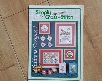 Simply Cross-Stitch Childrens Designs 1, Childrens Cross Stitch Patterns, Nursery Cross Stitch Charts