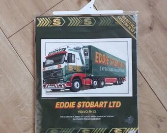 Eddie Stobart Ltd Volvo FH12 Cross Stitch Kit, Eddie Stobart Lorry Cross Stitch Kit, Counted Cross Stitch Kit