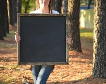 Chalkboard | Chalkboard Sign | Blank Chalkboard | Large Chalkboard | Square Chalkboard | Wedding Chalkboard | Framed Chalkboard |Rustic Sign