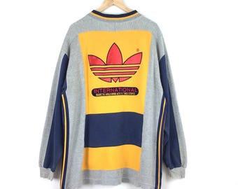 Vintage Adidas Trefoil Big Logo Sweatshirt / Adidas Hoodie / Adidas Big Logo / Adidas Trefoil / Adidas Jacket