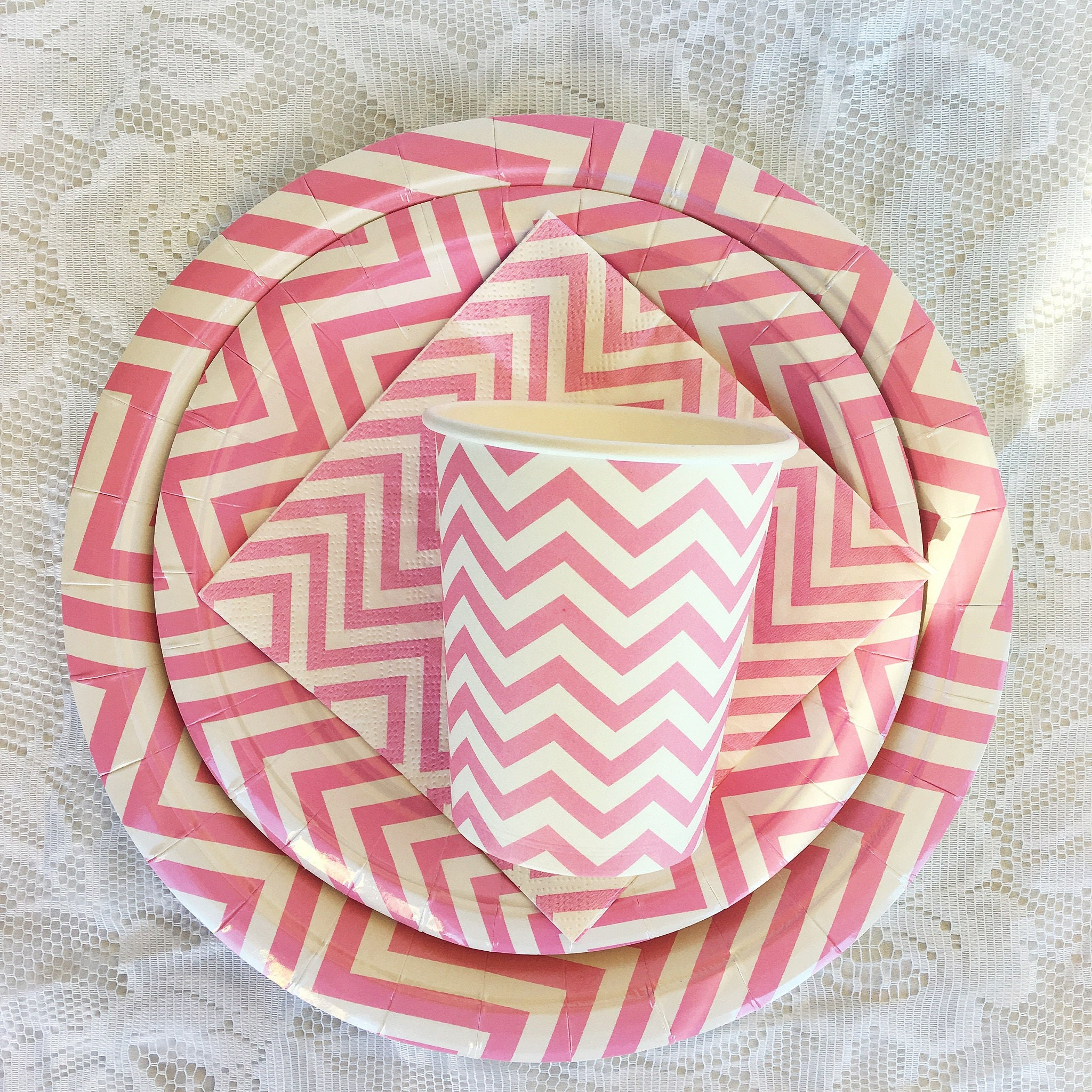 Inidual Party Items (Chevron Pink Blue or Pastel) Paper plates cups  sc 1 st  Purchase Latest Men \u0026 Women online Shoes clothing accessories ... & Inidual Party Items: (Chevron Pink Blue or Pastel) Paper ...