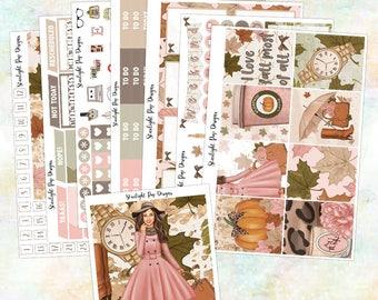 Fall Sticker Kit for the Erin Condren Vertical, Happy Planner, Kikki K