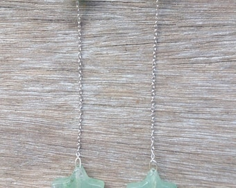 Silver plated earrings with Aventurine