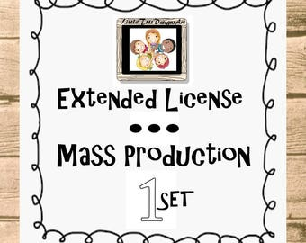Extended License for Commercial Use - MASS Production Commercial License for ONE listing in my shop