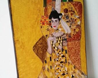 """Tableau Breton """"Bigouden à la manière de Klimt """""""