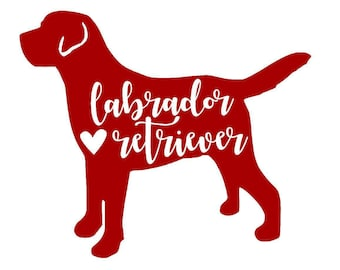 Labrador Retriever Vinyl Decal | Lab Decal | Pet Decal | Dog | Yeti Cup Decal | Car Window Decal | Laptop Sticker | Personalized Decal |