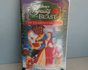 Disney's Beauty and the Beast The Enchanted Christmas Movie, The Enchanted Christmas VHS, Kids Christmas Movie, Beauty and the Beast VHS