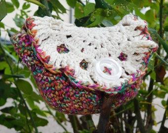 Crochet coin purse or worn