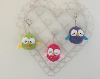 Owl keyring/crochet keyring/owl/keyring/thank you gift/small gift idea/crochet/gift