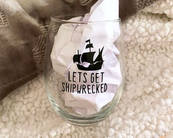 Gasparilla   Lets get shipwrecked   stemless wine