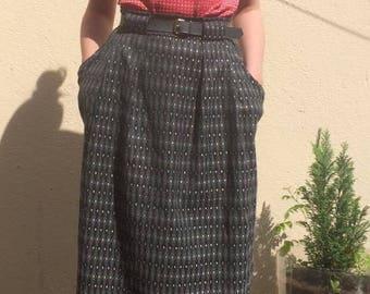 Vintage Grace Kelly Esque Diamond Motif Skirt