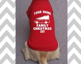 Custom Christmas Dog Shirt Custom Griswold Family Christmas Dog T-Shirt Funny Christmas Dog Sweater Holiday Dog Apparel