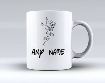 Personalised *Any Name* Disney Tinkerbell Peter Pan Christmas Present Gift 11oz MUG