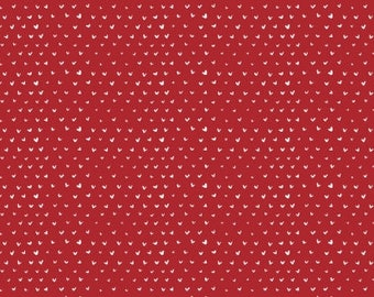 Hearts in Crimson - Dear Stella quilting cotton fabric