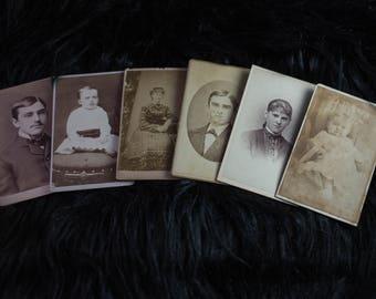 Set of 6 Vintage Cabinet Cards