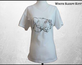 Kawaii Cat Shirt, Cat T Shirt, Anime Clothing, Kawaii Clothing, Anime Shirt, Cat Lover Gift, Cute Cat Shirt, Free Shipping