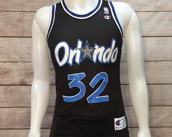 Vintage NBA Basketball Orlando Magic Shaquille O'neal Shaq Champion Jersey Size Mens Small