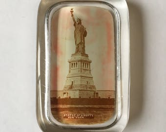 Vintage Paperweight Of The Statue of Liberty - New York, Early 1900's - American, New York Souvenir,  Desk Accessories, Office