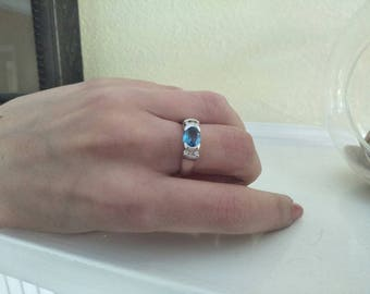 SALE: Stunning blue topaz and diamond ring now 20% off