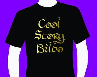 Cool story bilbo funny Men's T-shirt for lord of the rings and hobbits fans