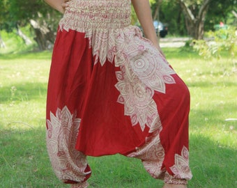 Harem pants,Harem Pants Women,Boho Pants,Trouser,Yoga Pants Baggy Pants Gypsy Pants Rayon Pants,Bohemian Pant,Hippie Pants,Red