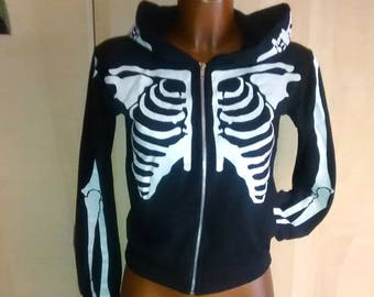EMO punk goth Jacket skeleton riot grrrl
