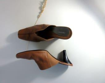 Vintage Leather Mule Heel