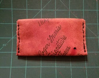 Single pouch wallet