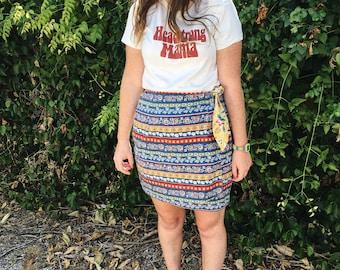 VTG 90's Wrap Mini Skirt