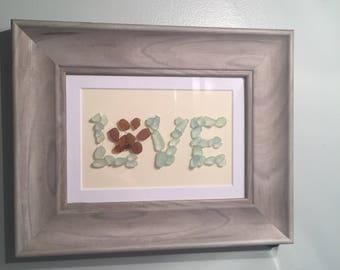 Animal paw print Love