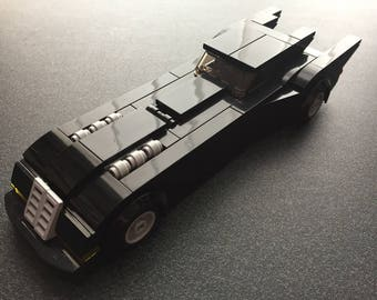 Custom Lego Batmobile from 1992 Animated Batman Series (Complete Lego Set)