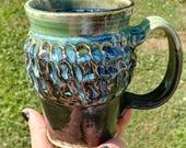 Textured Mug in Sea Willo...