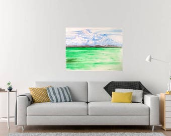 ocean painting,acrylic painting,original,wall art,home decoration,