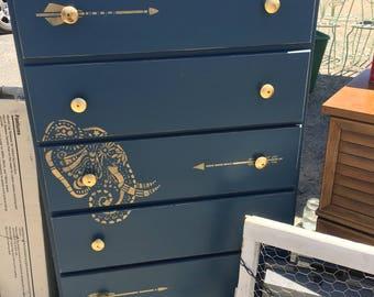 Boho vintage dresser